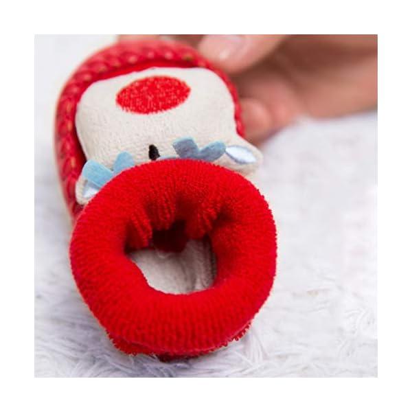 ZOOMY Calcetines navideños para bebés Calcetines Antideslizantes para Interiores para niños y niñas 3
