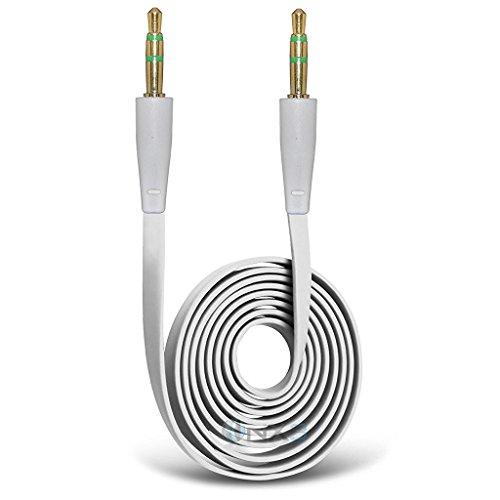 ONX 3 (Weiß) Micromax Leinwand Blaze 4G+Q 414 vergoldete 3,5-mm-Buchse auf Buchse, Anschluss Aux Aux Audio Kabel Blaze Audio