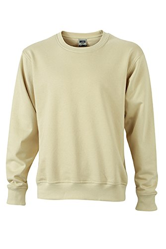 James & Nicholson Herren Workwear Sweat Sweatshirt Grau (Stone)