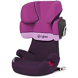 Cybex Silver Solution X2-Fix - Silla de coche con y sin Isofix, Grupo 2/3 (15-36 kg), Desde los 3 hasta los 12 años aprox., Morado (Purple Rain)