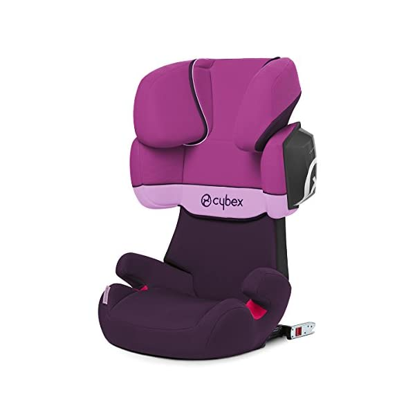 CYBEX Silver Solution X2-Fix Child's Car Seat, For Cars with and without ISOFIX, Group 2/3 (15-36 kg), From approx. 3 to approx. 12 years, Purple Rain Cybex Sturdy and high-quality child car seat for long-term use - For children aged approx. 3 to approx. 12 years (15-36 kg), Suitable for cars with and without ISOFIX Maximum safety - 3-way adjustable reclining headrest, Built-in side impact protection (L.S.P. System) 11-way adjustable, comfortable headrest, Adjustable backrest, Comfortable seat cushion 1