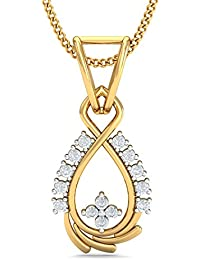 Kuberbox Yellow Gold And Diamond Maya Contemporary Pendant