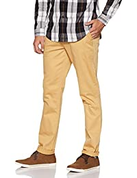 John Players Men's Slim Casual Trousers