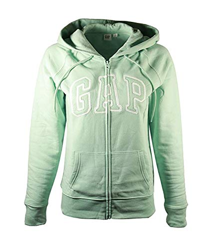 Gap Damen Fleece Arch Logo Full Zip Hoodie (X-Large, Light Mint) -