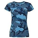 SOL'S T-Shirt à Motif Camouflage - Femme (L (FR 40/42)) (Bleu)