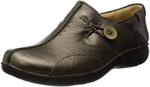 Clarks Un Loop, Mocassins femme Bronze leather