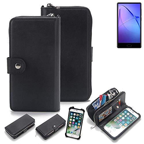 K-S-Trade 2in1 Handyhülle für Leagoo KIICA Mix Schutzhülle & Portemonnee Schutzhülle Tasche Handytasche Case Etui Geldbörse Wallet Bookstyle Hülle schwarz (1x)