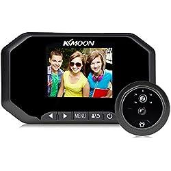 """KKmoon Mirilla 3"""" LCD 1080P Peephole Digital Viewer 160° PIR Puerta Ojo Timbre Cámara IR Vision Nocturna Detección de Movimiento Tomar Foto / Grabación de Video para Seguridad Hogar"""