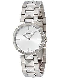 Calvin Klein–Reloj de pulsera analógico para mujer cuarzo acero inoxidable k5t33146