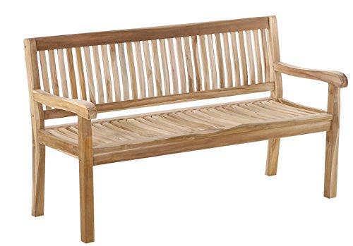 SAM® 3-Sitzer Gartenbank Kingsbury, aus Teakholz, Sitzbank, 150 cm, massive Holzbank, Gartenmöbel aus Holz, ideal für den Balkon oder Garten - 2