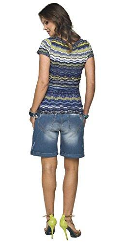 Torelle Umstandsmode von 2in1 Stillshirt, Umstandsshirt, Modell: Gaja Blau-Grün/Kurzarm