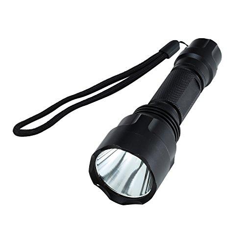 Preisvergleich Produktbild Liqoo 400lm LED Taschenlampe Handlampe Licht Lampe Q5 LED 3 Schalter-Modus: Stark, Normal, Blitz IP65 Wasserdicht Weiß Lichtfarbe