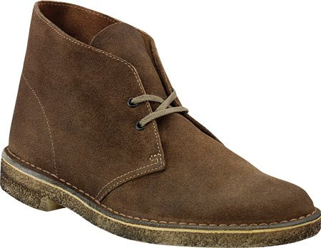 Clarks Wüste Ankle Boot Taupe Distressed/Blue Crepe