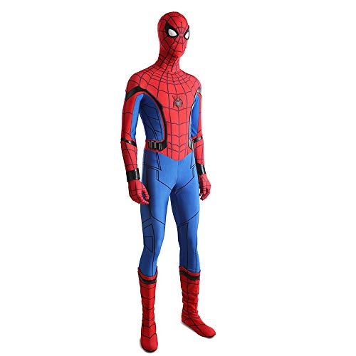 SHANGN Kinder Erwachsene Film Cosplay Kostüm Halloween Theme Party Superheld Spiderman Body Anzug Kostüm Rollenspiele,Adult-XXL