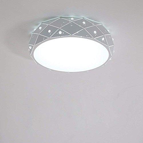 DHG Lampe de Table-Chambres Modernes lumière Plafond Lampe Chaude Romantique Lampes Rondes personnalité créative Dormir propriétaire Chambre éclairage,30CM Blanc 18W