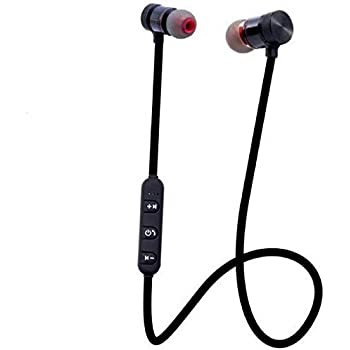 Bumhe Wireless Sports Bluetooth Magnet Earphone Hand-Free Headphone for All Smartphone (Black)