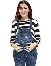 1600c04ec Pinji Embarazo Pantalones Ropa de Maternidad - Mujer Peto Babero Monos  Trajes de Abajo Correa Ajustar