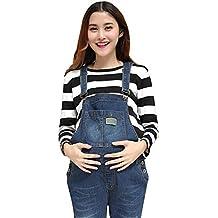 95bcc2667 Pinji Embarazo Pantalones Ropa de Maternidad - Mujer Peto Babero Monos  Trajes de Abajo Correa Ajustar