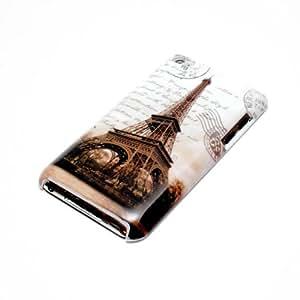 deinPhone Apple iPod Touch 4 4G HARDCASE Hülle Case Eiffelturm Schwarz Weiß