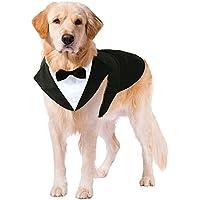 Puptail Dog Suit or Dog Tuxedo and Bandana Set, Dogs Wedding Party Suit, Dog Wedding Bow Tie Shirt Formal Dog Weeding…