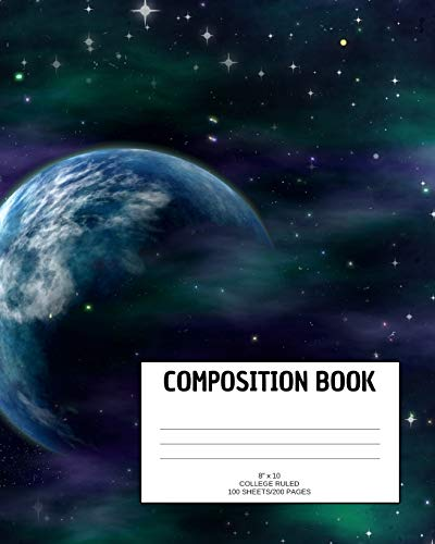 Composition Book: Galaxy; college ruled; 100 sheets/200 pages; 8
