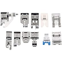 Kit 11 x prensatelas pie pies Fruncidor universales para máquinas de coser