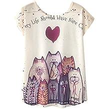 QinMM Camiseta Tops Estampada para Mascotas de Mujer 6ea17146e7dc0