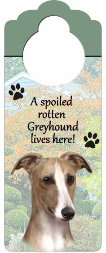 greyhound-fawn-wood-sign-a-spoiled-rotten-greyhound-fawn-lives-here-con-artistico-fotografia-misura-