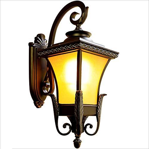 AXWT Geführte europäische Art-Garten-Licht-wasserdichte feuchtigkeitsfeste im Freienwand-Lampe Cast Aluminium Phoenix vier Seiten-Wand-Licht-Garten-Beleuchtungs-Landschafts-Licht-Wandleuchte-Laterne -