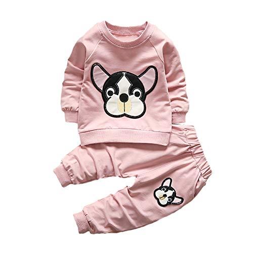 (Hawkimin Baby Jungen Mädchen Kinder Tiere Kleidung 2 STÜCKE Langarm T-Shirt + Hosen Outfits Set)