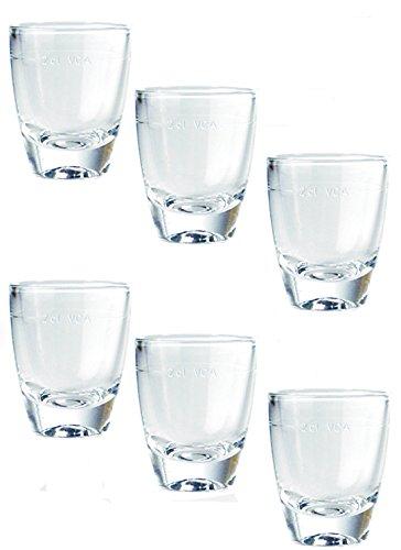72 Schnapsgläser Universal Gin Stamper Shot Gläser Glas 3,5 cl Ohne Füllstrich AllesAusGlas
