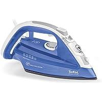 Tefal UltraGliss FV4944 - Plancha (Plancha a vapor, Suela de Durilium, 2 m, 150 g/min, Azul, Blanco, 40 g/min)