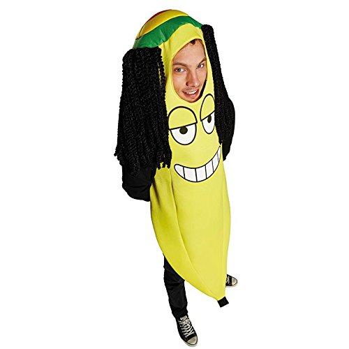 Unisex Kostüm Rasta Banane Rastafari Jamaika Karneval Fasching ()