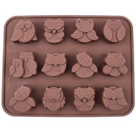 12-gufo-muffa-del-cioccolato-del-silicone-della-caramella-gelatina-muffa-torta-di-pane-muffa-mestier