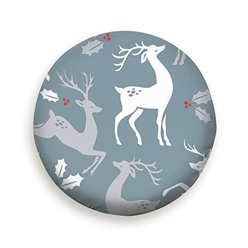Weihnachten Deer Holly Beeren Urlaub Reifenabdeckung Camping Trinkwasser Polyester Universal Reserveradabdeckungen für Anhänger RV SUV Truck Camper Reiseanhänger Zubehör (14,15,16,17 Zoll) 16 Zoll -