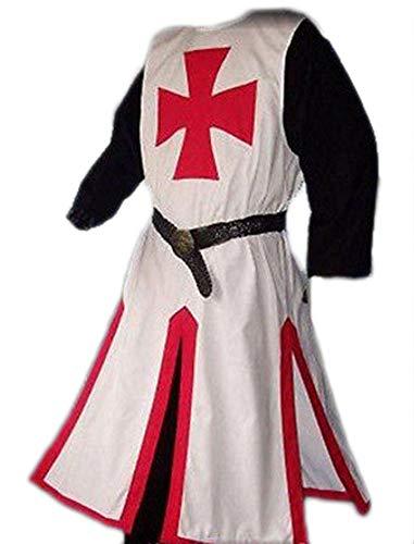 365 Kostüm Party - RHSML Halloween-KostüM, Mittelalterliche Templer, Halloween-HüBsche Terrorist-KostüMe,Bigredlabelonwhite,M