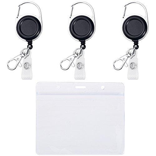 Lictin 3 Schlüssel JoJo Ausweis JoJo mit Gürtelclip Schlüsselring mit Wasserdichter Ausweishülle