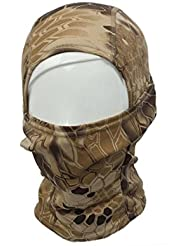 Mascara facial - TOOGOO(R) 1PC Mascara de cara completa de pasamontanas de ciclo de motocicleta de camuflaje de ejercito marron
