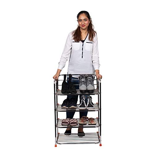 Parasnath Stainless Steel Shoes Stand, 4 Layer