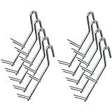 DD-Tackle 10 stuks dubbele puntige klauwen L rookhaken verzinkt 18 cm / 4 mm Ø