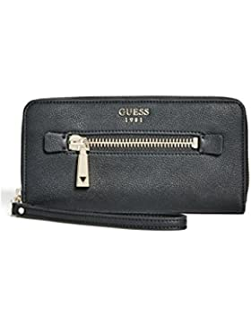 Guess Tenley slg large wallet zip around black