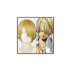 Pirate chef! Sanji Cosplay Wigs wind heat-resistant ONE PIECE blonde black foot GH (japan import)