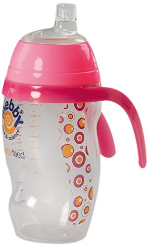 Mebby 92607 Trinkbecher Easy Cup, Tropffrei 6+ Monate, rosa mit Silikonschnabel