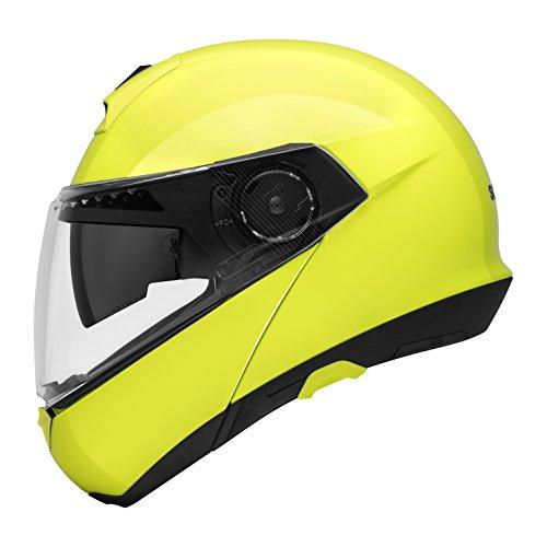 Preisvergleich Produktbild SCHUBERTH C4 Fluo Yellow (Gelb),  M / 57,  Klapphelm Motorradhelm,  integrierte Sonnenblende,  Antibeschlagscheibe,  Mikrofon,  Lautsprecher und Antenne integriert (SC1 ready),  Sicherheitsnorm ECE-R22.05