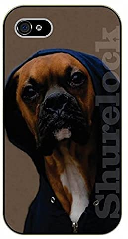 iPhone 5 / 5s Bulldog with hoodie - black plastic