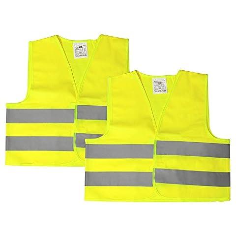 Com-Four enfants autocollant pour kit réflecteur avec gilet de signalisation, Porte-clés, Stickers réfléchissants et porte-clés avec des motifs amusants 02 Stück - Weste