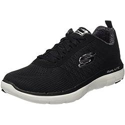 Skechers Flex Advantage 2.0 - The Happs, Chaussures Multisport Outdoor Homme, Noir (Black/White), 41 EU