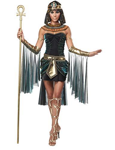 Cleopatra Kostüm Schuhe - KULTFAKTOR GmbH Sexy Cleopatra Damenkostüm Antike schwarz-Gold M (40/42)