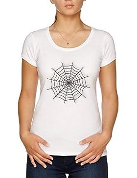 Vendax Araña Web Camiseta Mujer Blanco