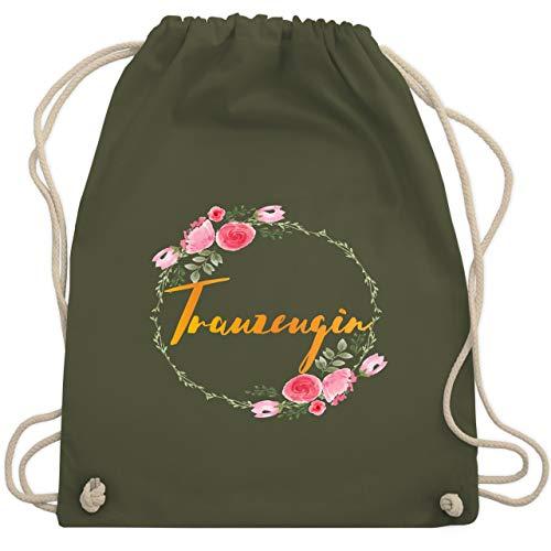 Hochzeit - Trauzeugin - Unisize - Olivgrün - WM110 - Turnbeutel & Gym Bag